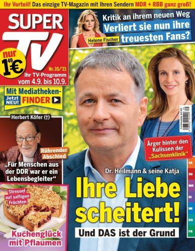 Cover: Super Tv Magazin No 35 vom 26  August 2021