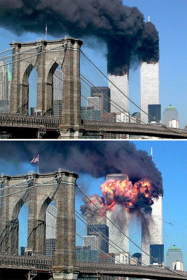 Редкие и трагичные: фотографии теракта 9/11, которые не все видели (19 фото)