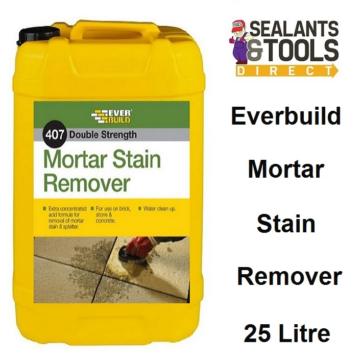 Everbuild 407 Mortar Cement Stain Remover 25 litre morstain25