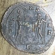 Antoniniano de Aureliano. IOVI CONSER. Júpiter y emperador. Roma AA84-EECE-C745-454-D-8-F75-BAA968-A05-DDE