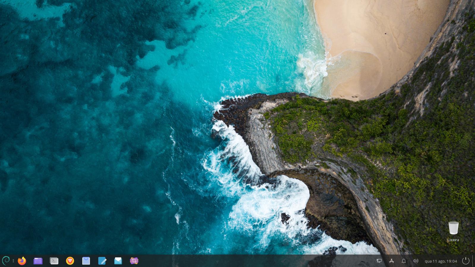 Debian XFCE clean desktop
