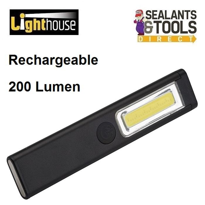 Lighthouse-XMS19-MINIR-Rechargeable-Slim-Led-Torch-Inspection-Light