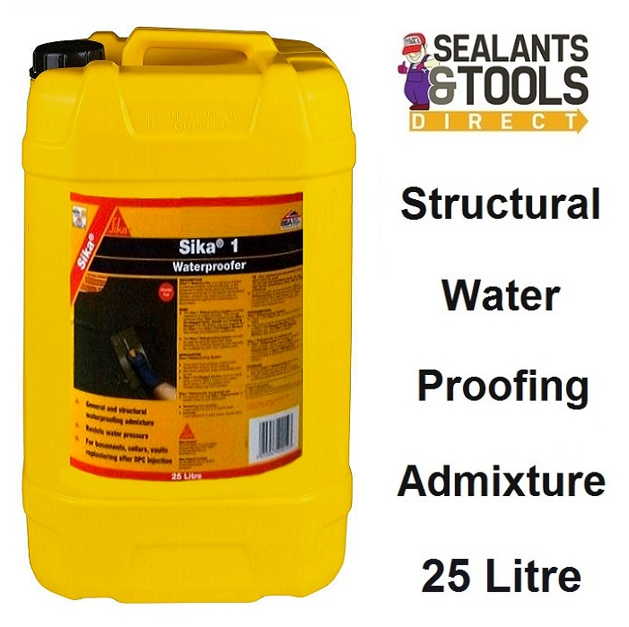 Sika 1 Waterproofer Water Proofing Admixture 25 Litre SK1WAT25