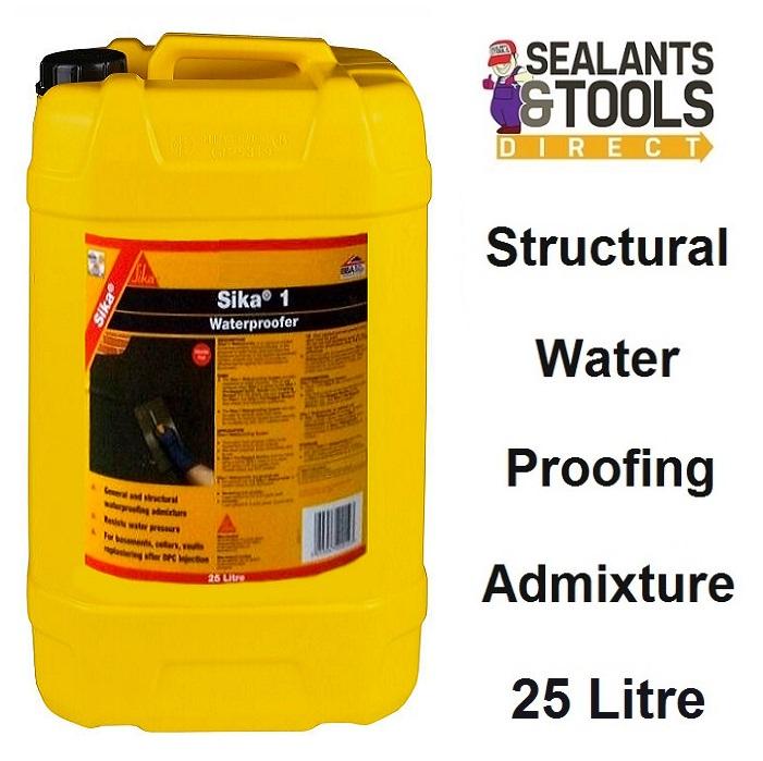 Sika 1 Waterproofer Water Proofing Admixture 25 Litre SK1WAT25