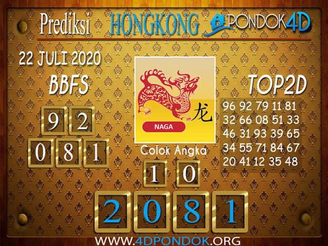Prediksi Togel HONGKONG PONDOK4D 22 JULI 2020