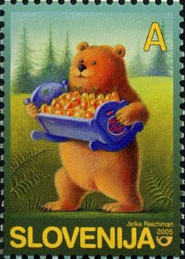 Slovenia stamps CHILD-S-BOOK-FIGURE-2005-2