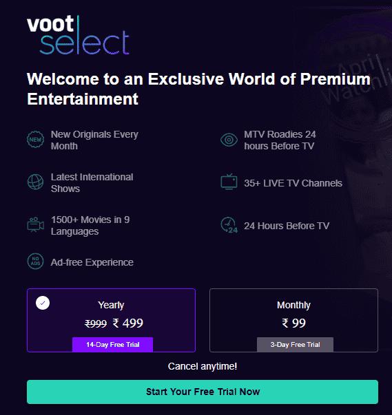 Voot Premium Account Free 2021 [100% Working]