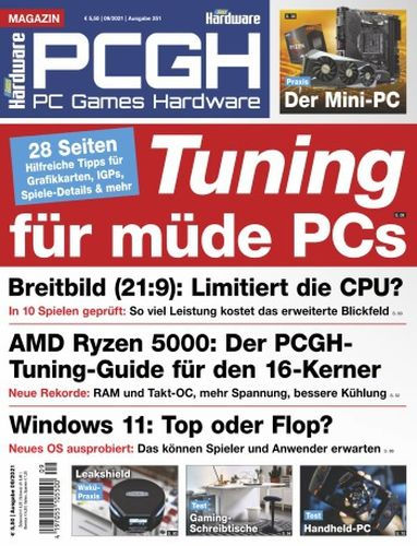 Cover: Pc Games Hardware Magazin No 09 2021