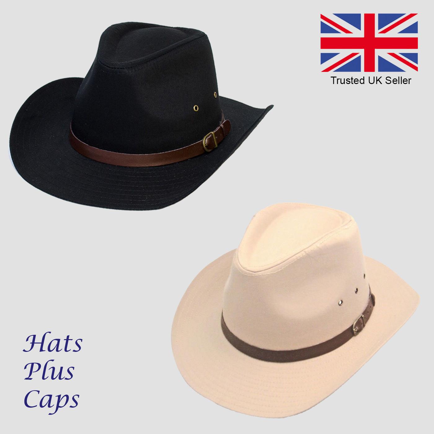 a0db8cee Cowboy Hat Stetson Style Fedora 100% Cotton Sun Summer Western | eBay