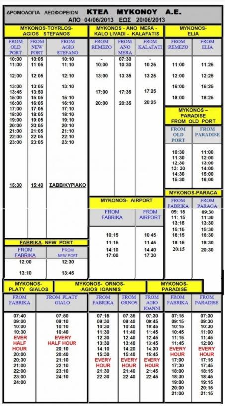 Mykonos Airport Schedule