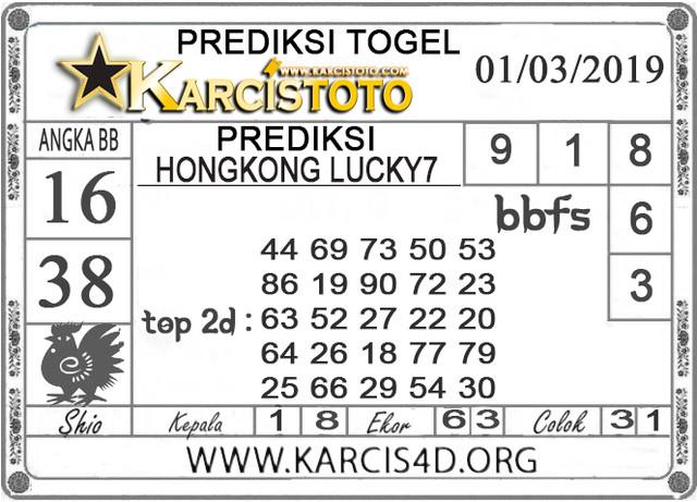 Prediksi Togel HONGKONG LUCKY 7 KARCISTOTO 01 MARET 2019