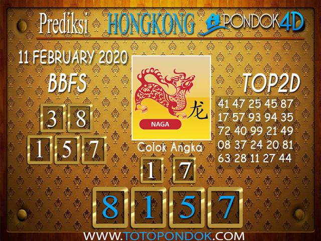 Prediksi Togel HONGKONG PONDOK4D 11 FEBRUARY 2020
