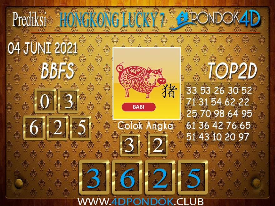 Prediksi Togel HONGKONG LUCKY7 PONDOK4D 04 JUNI 2021