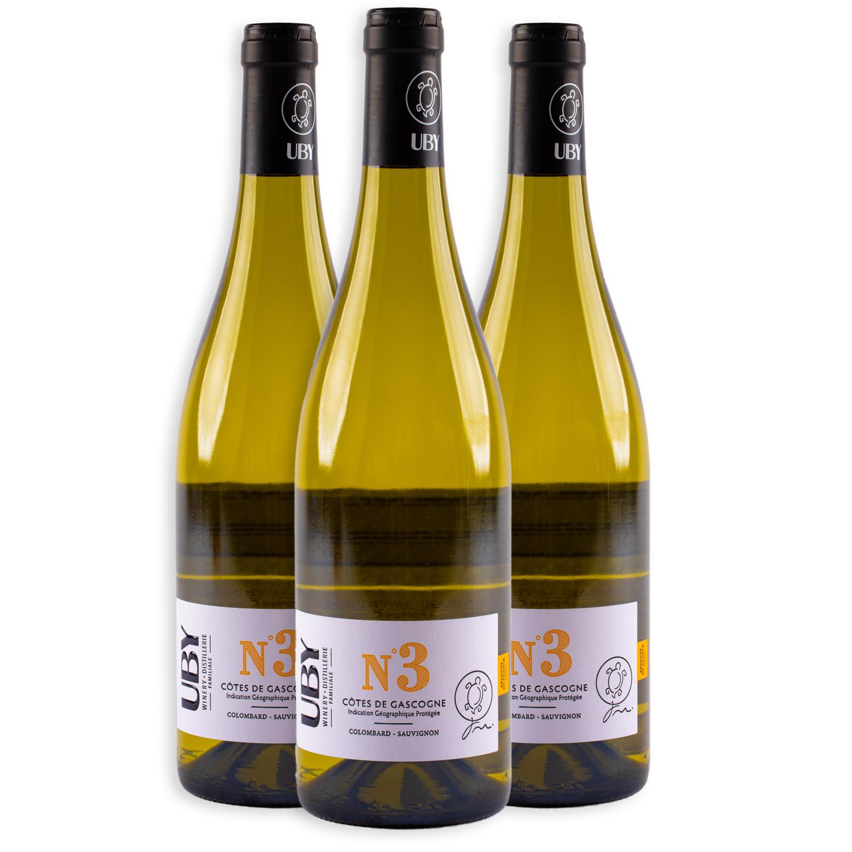 3 sticle x UBY No.3, Cotes de Gascogne 2019 750ml