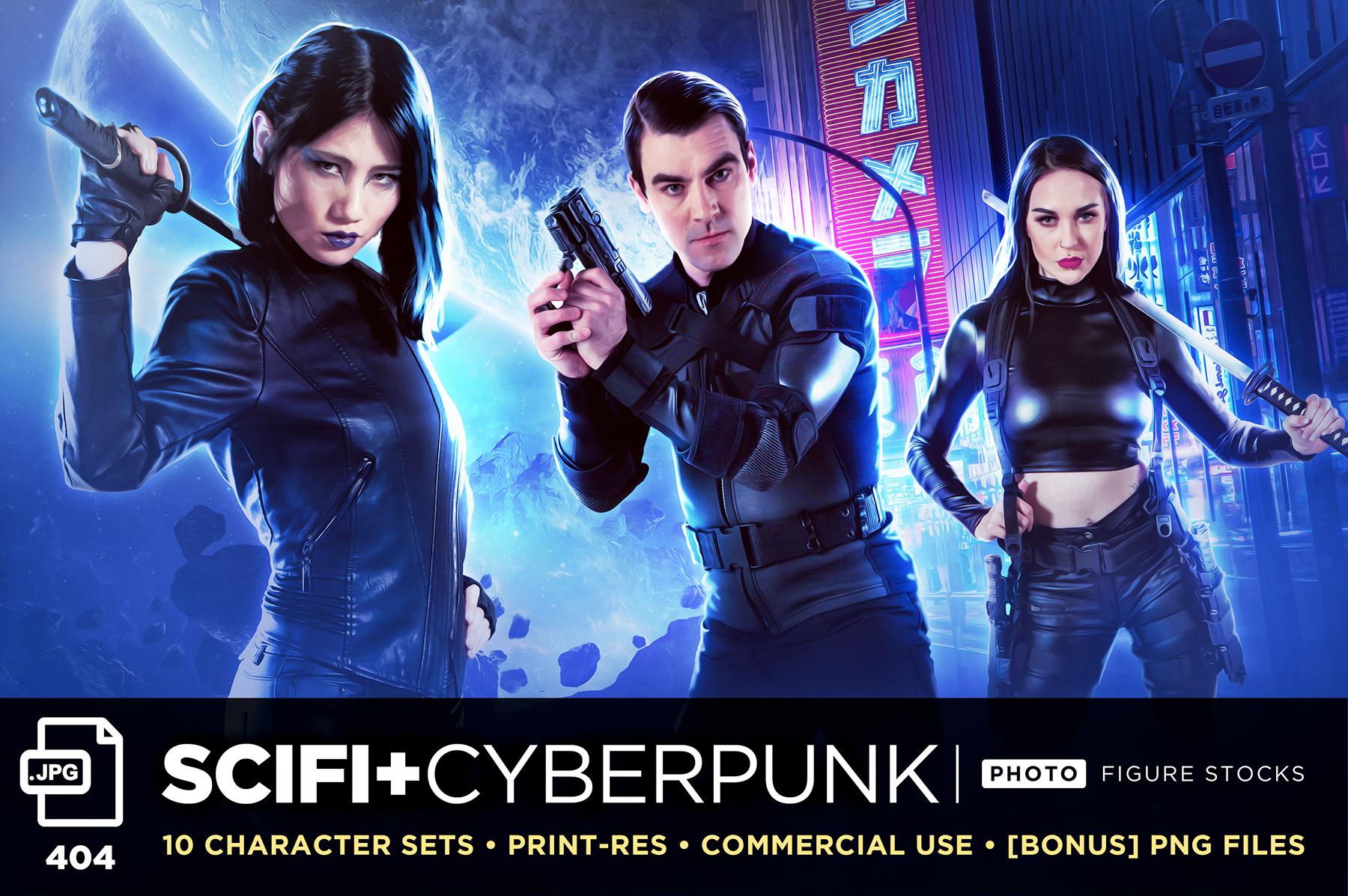 Sci Fi Cyberpunk Sales Art GFX