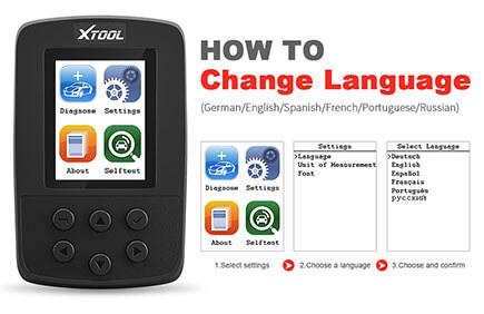 How to change SD100 Language