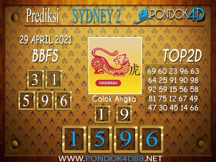 Prediksi Togel SYDNEY2 PONDOK4D 29 APRIL 2021