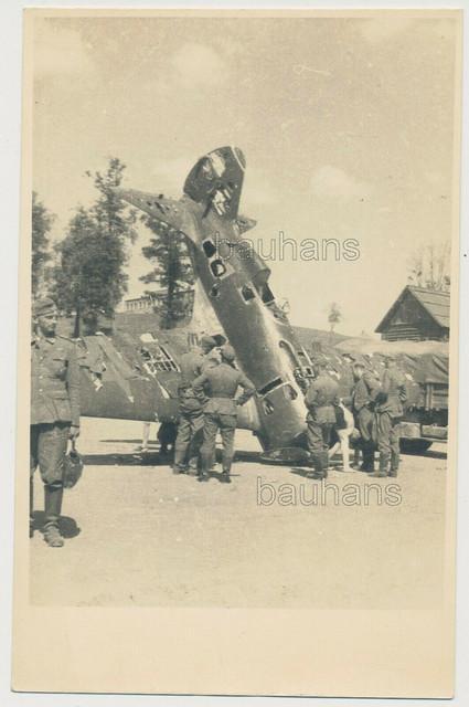 Foto-Russland-Feldzug-Wehrmacht-russisches-Flugzeug-Rata-Polikarpow