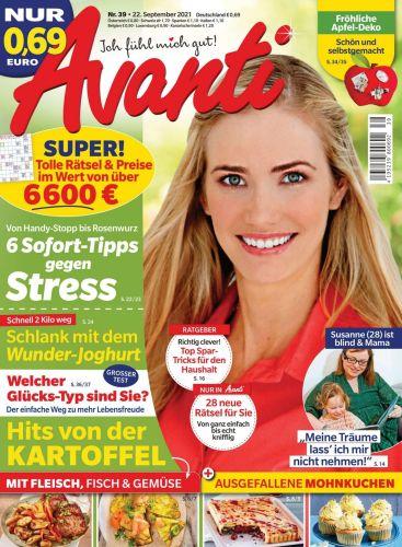 Cover: Avanti Frauenmagazin No 39 vom 22  September 2021