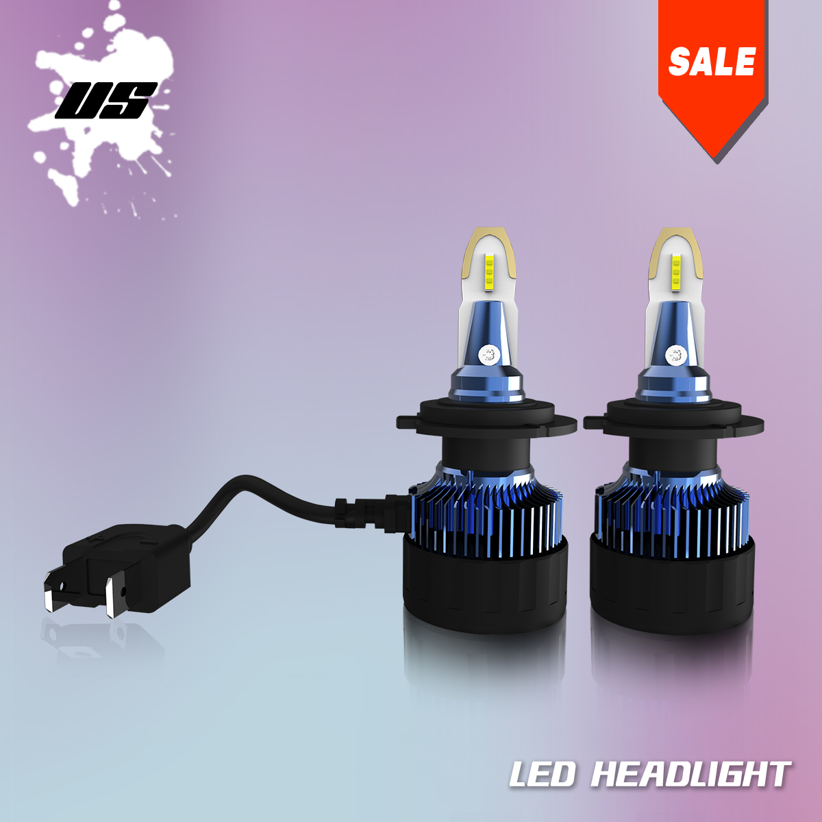 H7 Super Bright 5000LM LED Headlight Bulbs High/Low Beam