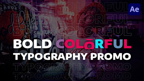 Bold Colorful Typography Promo 29949010 - Project for After Effects (Videohive)