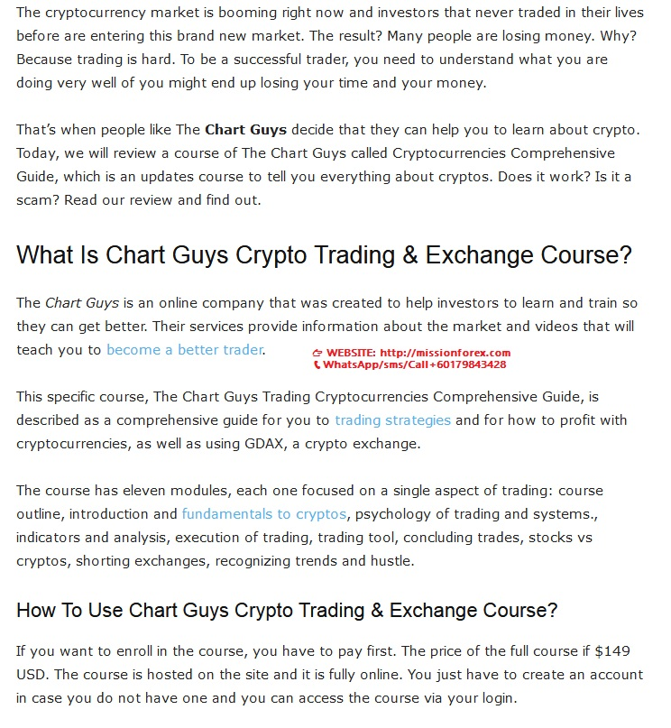 Chart Guys Cryptocurrency Trading Exchange Video Guide Courses