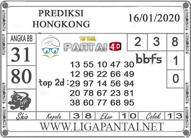 PREDIKSI TOGEL HONGKONG PANTAI4D 16 JANUARI 2020