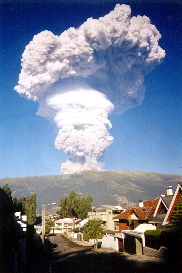 Извержение вулкана Пичинча