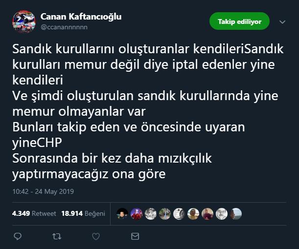 Canan Kaftancıoğlu tweet