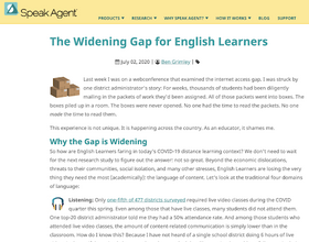 Gaps Learnings Systems Create for English Learners