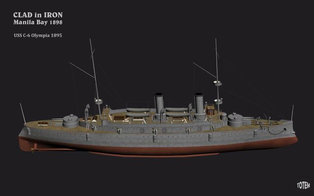 USS-C-6-Olympia-1895-WIP