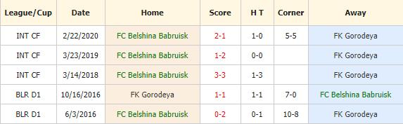 Belshina Babruisk vs FK Gorodeya