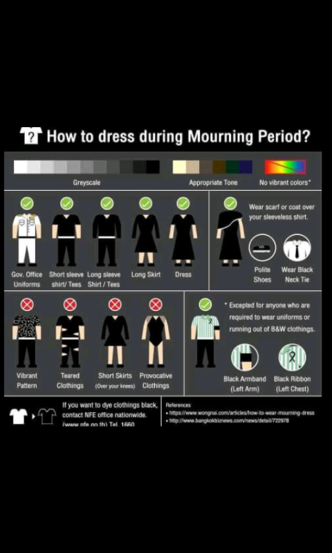 DRESS CODE DURING MOURNING PERIOD