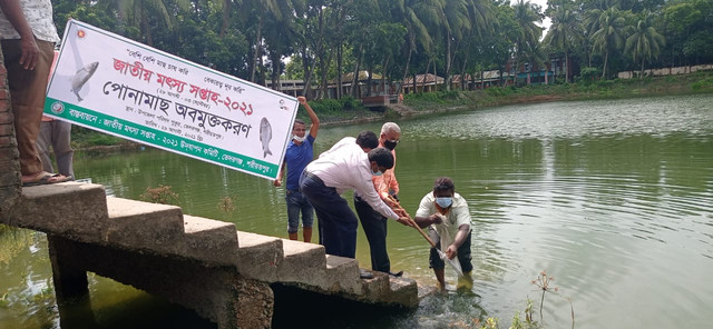 জাতীয় মৎস সপ্তাহ উপলক্ষে ভেদরগঞ্জে পোনামাছ অবমুক্ত