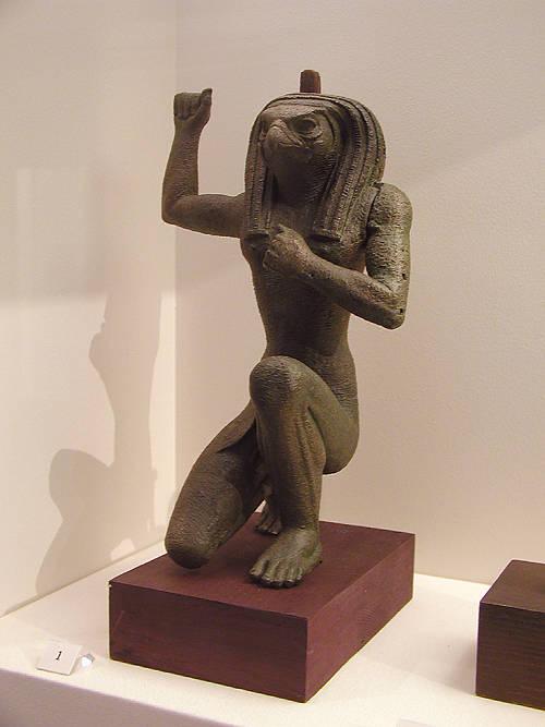 Falcon-headed-kneeling-deity