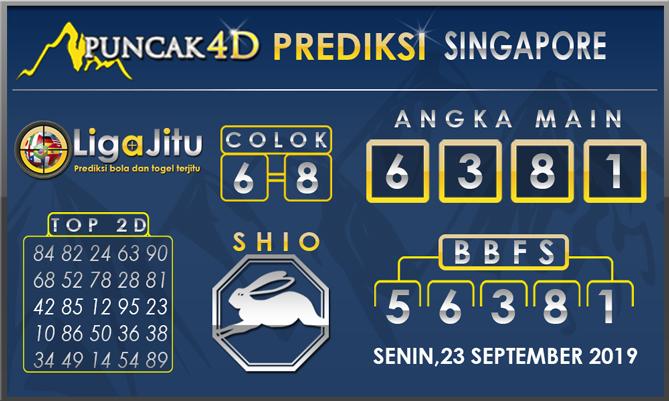 PREDIKSI TOGEL SINGAPORE PUNCAK4D 23 SEPTEMBER 2019