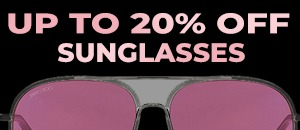 20% off sunglasses
