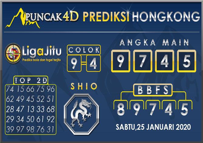 PREDIKSI TOGEL HONGKONG PUNCAK4D 25 JANUARI 2020