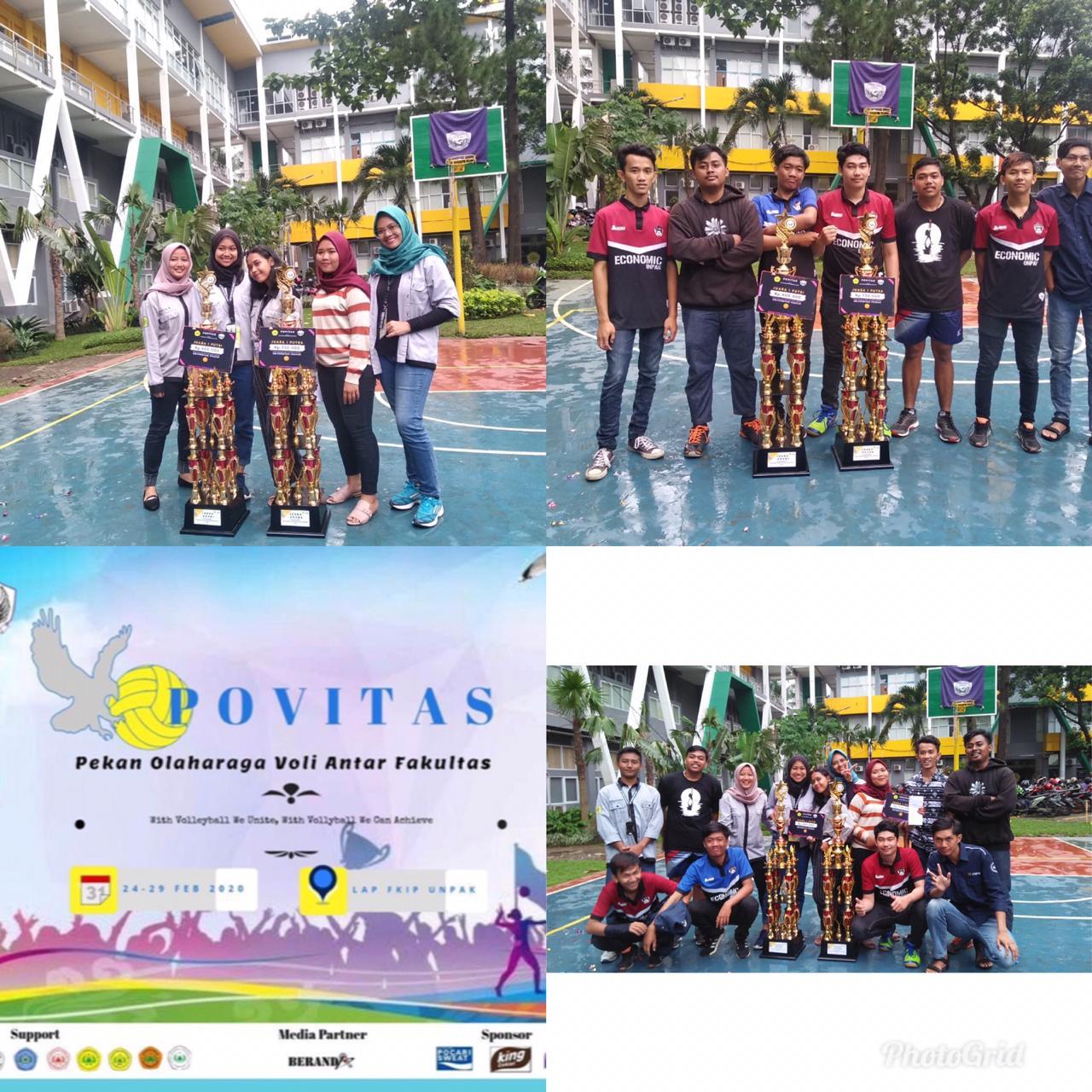 Fakultas Ekonomi Juara 1 dalam Acara POVITAS (Pekan Olaharga Antar Fakultas) 2020