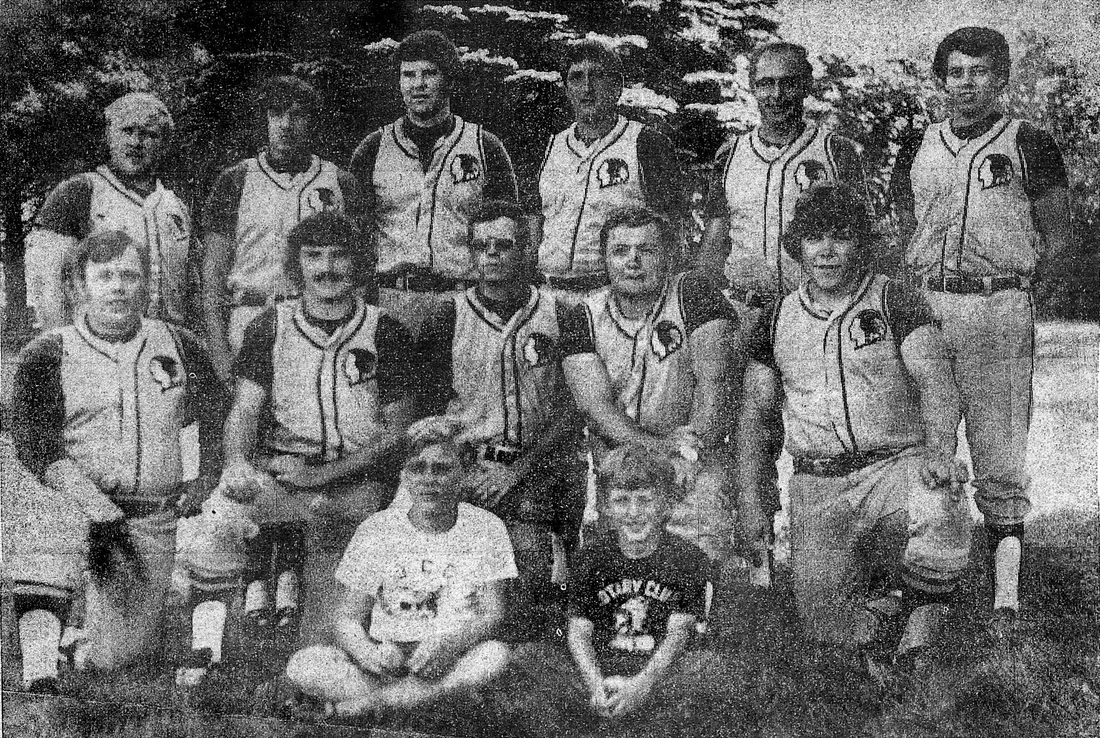 1973 Kewaunee Chiefs Shoreland Championship Team