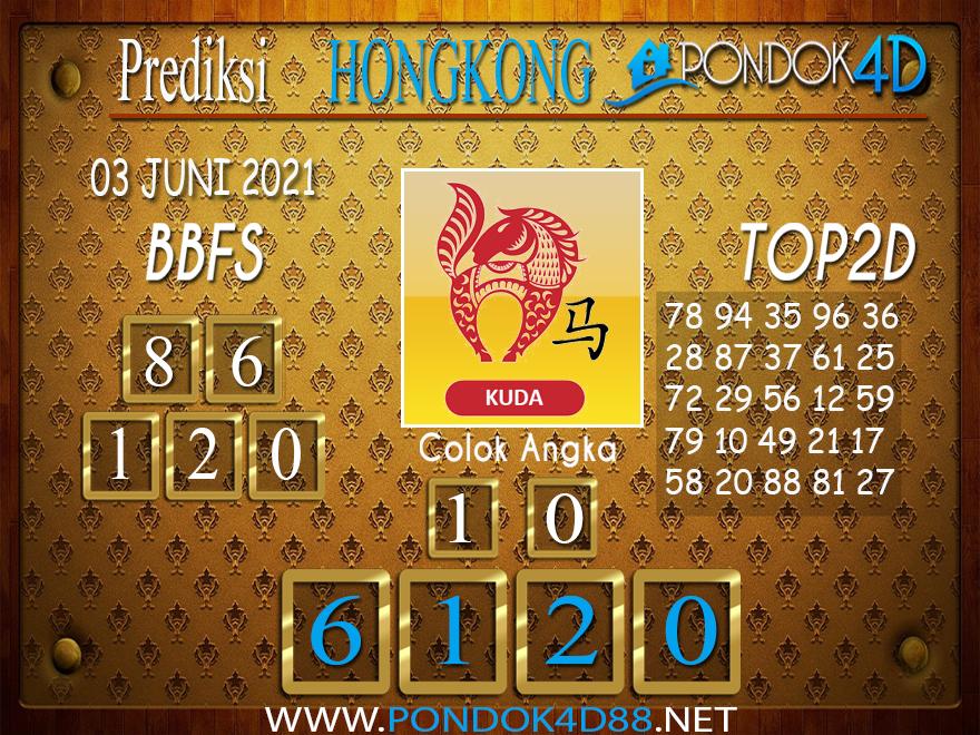 Prediksi Togel HONGKONG PONDOK4D 03 JUNI 2021