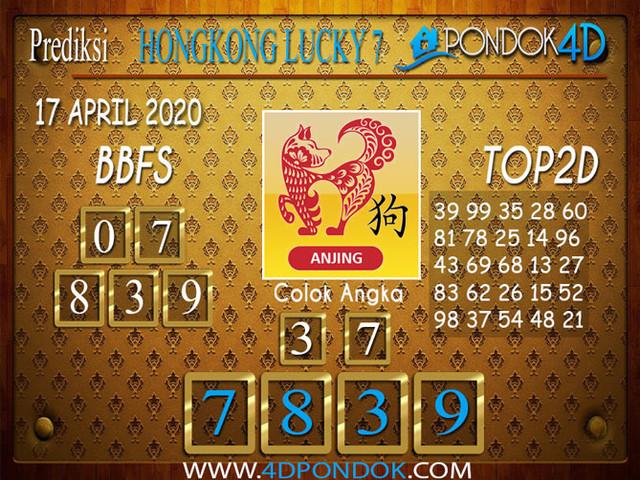 Prediksi Togel HONGKONG LUCKY 7 PONDOK4D 17 APRIL 2020