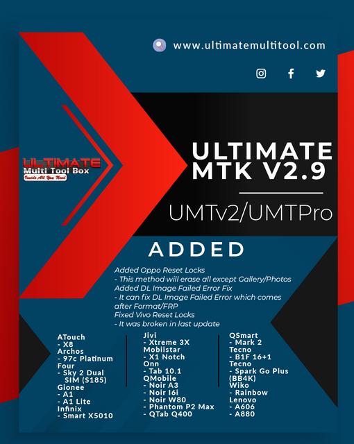 [22-05-20] UMTv2 / UMTPro - UltimateMTK v2.9 Released - Oppo Reset Locks and more...