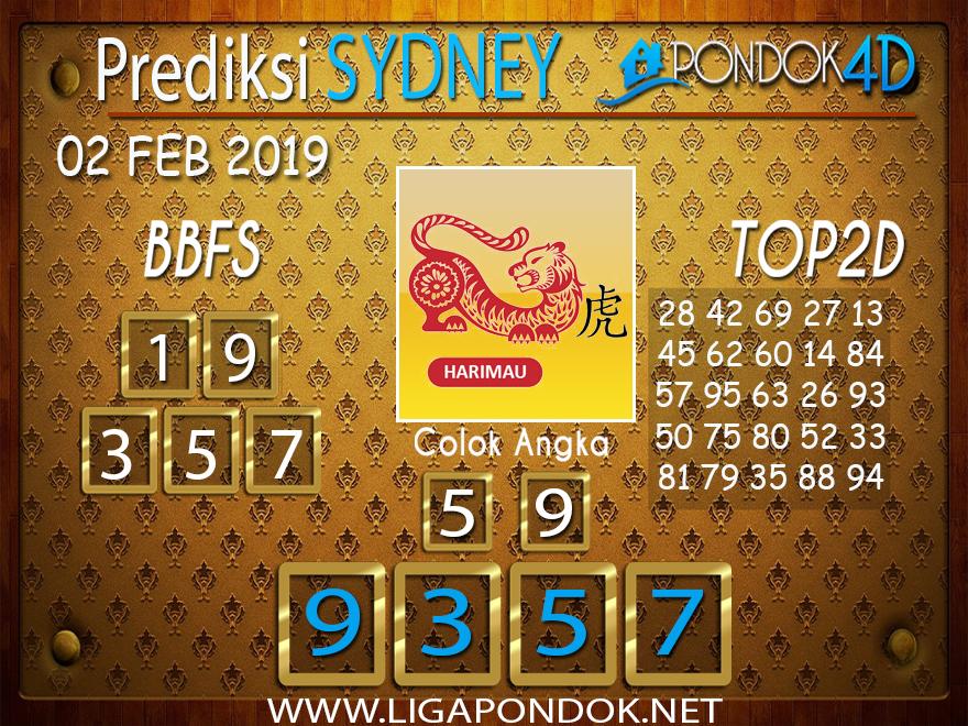 Prediksi Togel SYDNEY PONDOK4D 02 FEBRUARI 2019