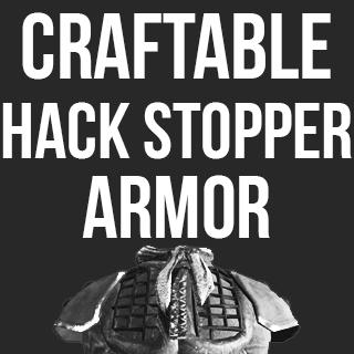 Craftable Hack Stopper Armor / Неразрубаемая броня (Крафтовая)!