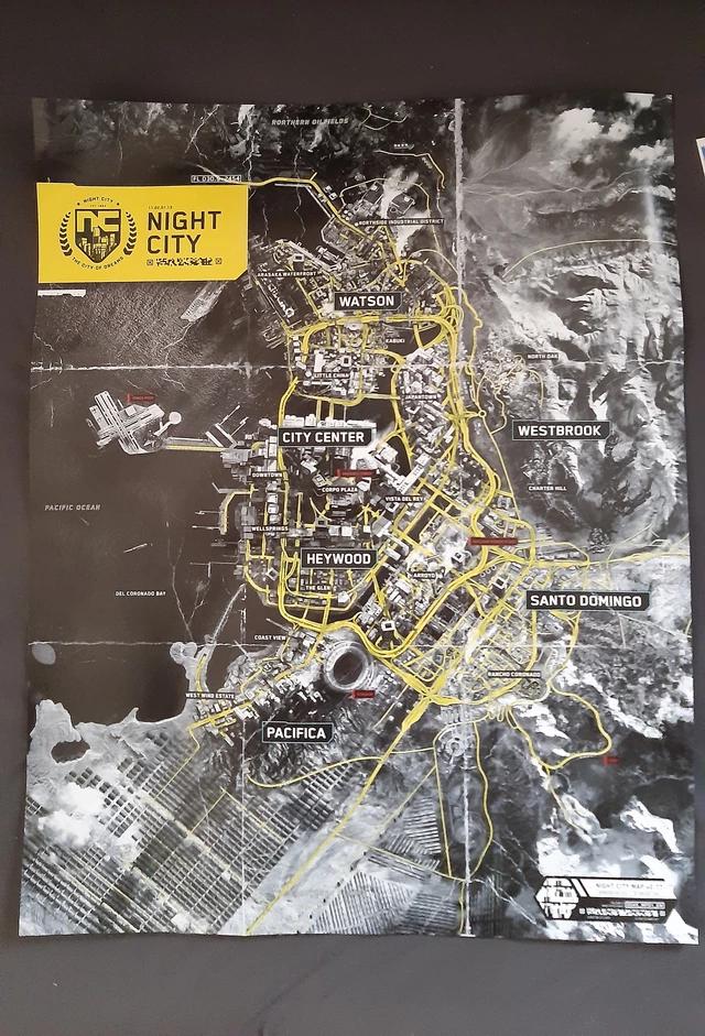 《電馭叛客2077》夜之城完整地圖 Image