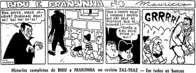 1960-02-25-FOLHA-DE-S-PAULO-i-p10-tira-BIDU-E-FRANJINHA-O-CASTELO-DOS-MONSTROS-14-PRIMEIRO-ANUNCIO-D