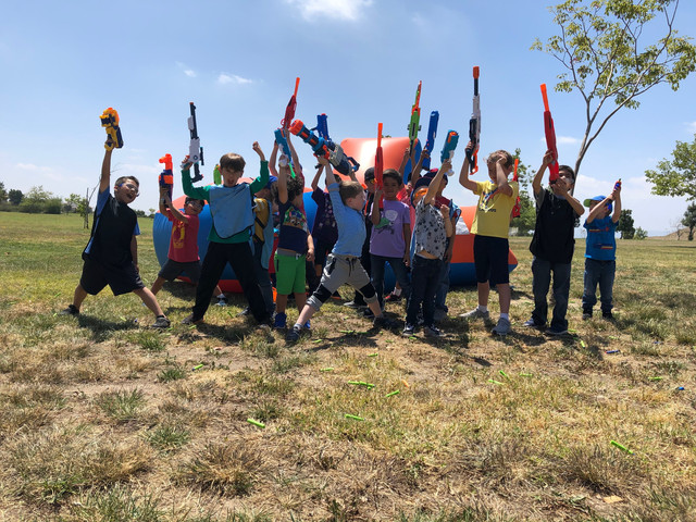 Nerf Warriors after their Nerf Gun Party in Northrdige on May 5th