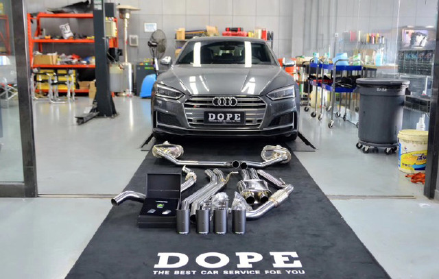2018 Audi S5 B9 Armytrix Downpipe + Cat-Back Valvetronic