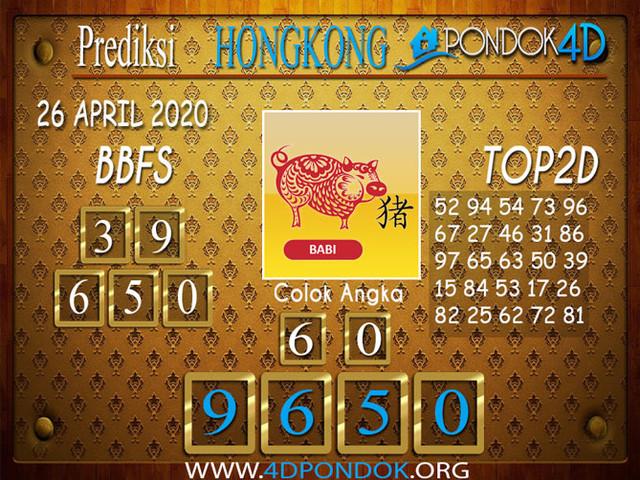 Prediksi Togel HONGKONG PONDOK4D 26 APRIL 2020